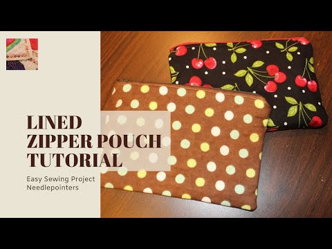 How To Make A Lined Zipper Pouch Bag