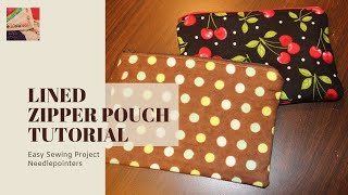 How to make a Lined Zipper Pouch (Lined Zipper Bag)
