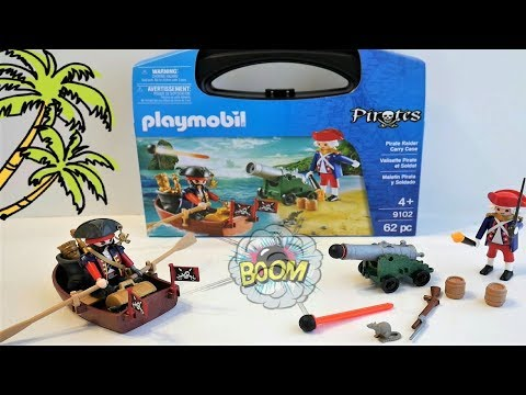 Onwijs Playmobil Pirate Raider Carry Case 9102 Unboxing | New Playmobil GO-93