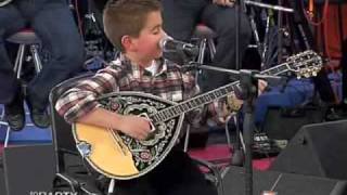 greek boy with bouzouki