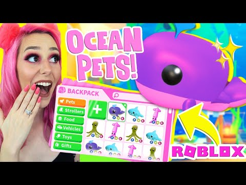 THE *NEW* UNDERWATER OCEAN PETS In Adopt Me! Adopt Me Update SECRETS (Roblox)