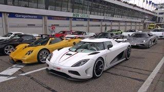 Hypercar Madness: Agera R, CCXR, Zonda S, 918 Spyder, Carrera GT, F40, Aventador!