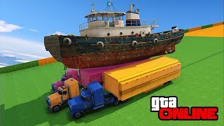 EPIC TUG CATCH & 30-PLAYER STUNTS/FAILS! || GTA 5 Online || PC (Funny Moments)