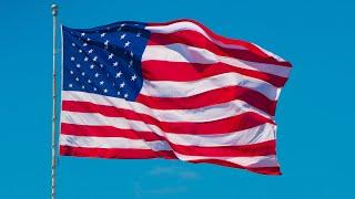 US Flag Slow-mo 30sec - American Flag Waving On The Wind