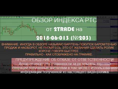 Обзор и торговый план по фьючерсу на индекс РТС на 2018-06-13  (№1??)
