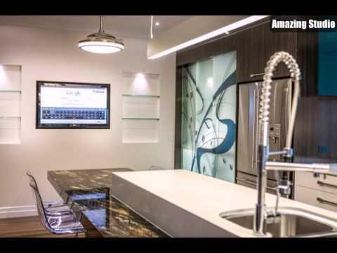 renovierte k che luxus moderne m beln fernseher youtube. Black Bedroom Furniture Sets. Home Design Ideas