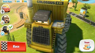 Disney CARS Colossus XXL Truck: Tow Mater Vs Todd Marcus Racing Game Play
