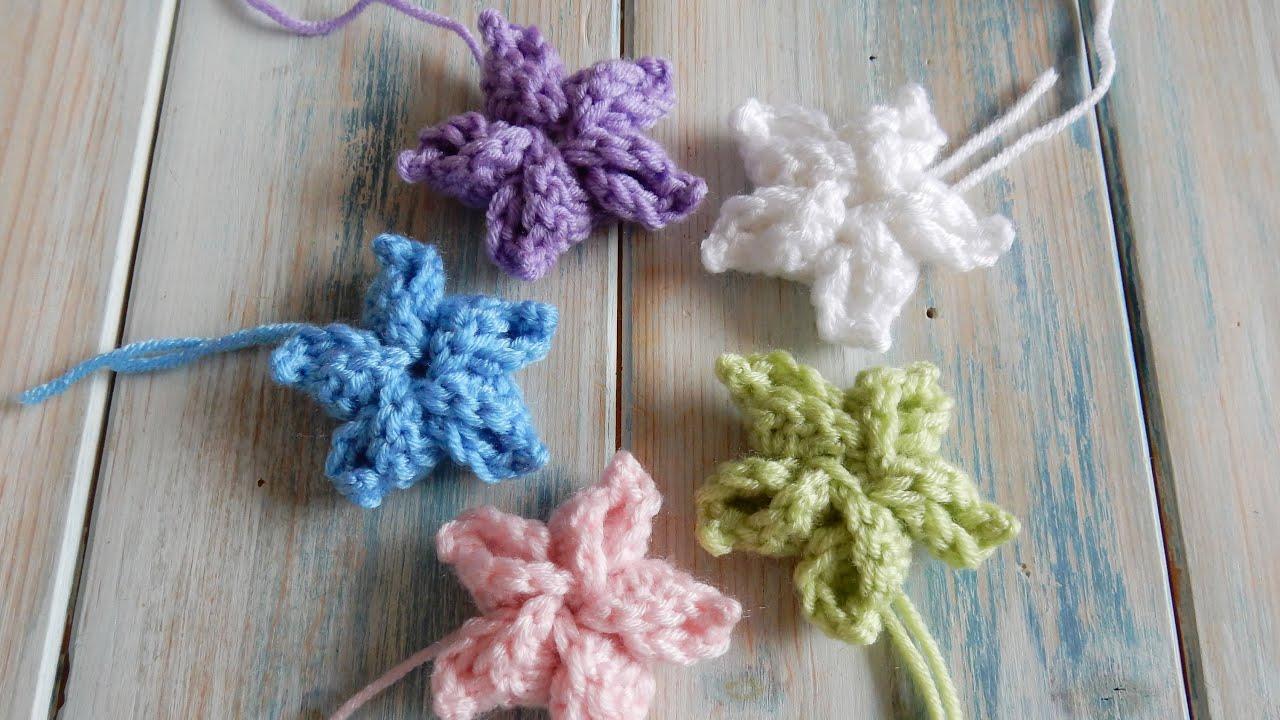 How To Crochet My Pinwheel Star Flower Youtube