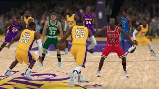 Team of LeBron James vs Greatest NBA Players Of All Time! | NBA 2K18 |