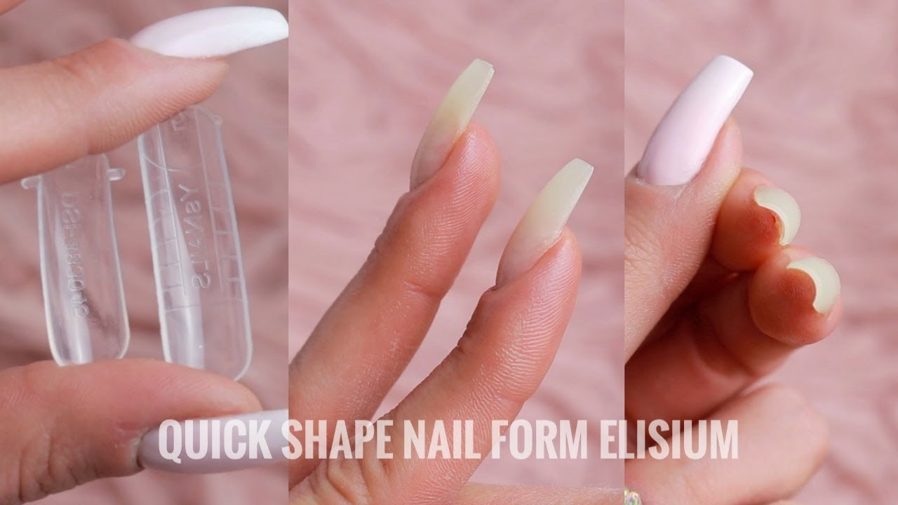 Typ 1 Vs Typ 2 Quick Shape Nail Form Ktore Formy Wybrac Youtube