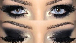 black smokey eye make up tutorial english