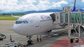 Repeat youtube video EXTENDED VERSION Thai airways TG111 Chiangmai - Bangkok by A330-321