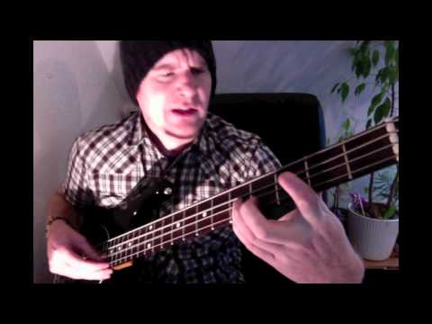 Unique Bass rendition of 'Hurt' Bass lesson including downstrokes, and fingerpicking