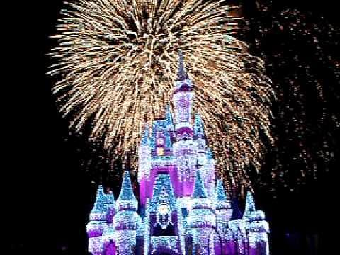 Wishes Cinderella Castle Fireworks Youtube