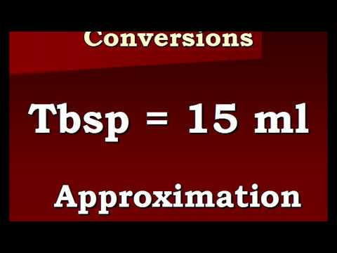 Conversion Video Tablespoons To Milliliters And Back Again Wmv
