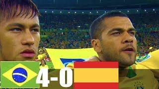RÉSUMÉ & GOLES Brazil vs Spain 4-0  Extended Highlights  MELHORES MOMENTOS