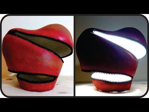 ❣DIY Unzipped Heart Lamp - Unique Valentine's Day Gift Idea❣