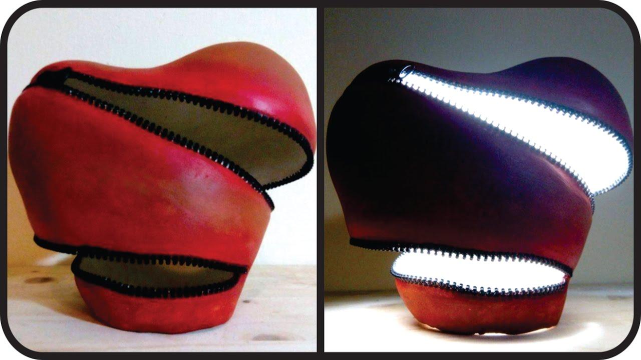 Diy Unzipped Heart Lamp Unique Valentine S Day Gift Idea Youtube