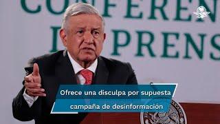 El presidente Andrés Manuel López Obrador acusó que hay una campaña de desinformación sobre las tarifas eléctricas