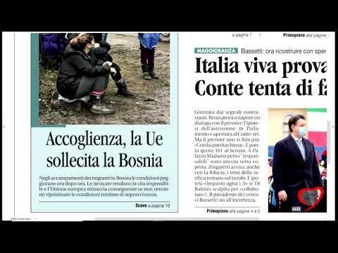 I giornali in edicola - la rassegna stampa 16/01/2021