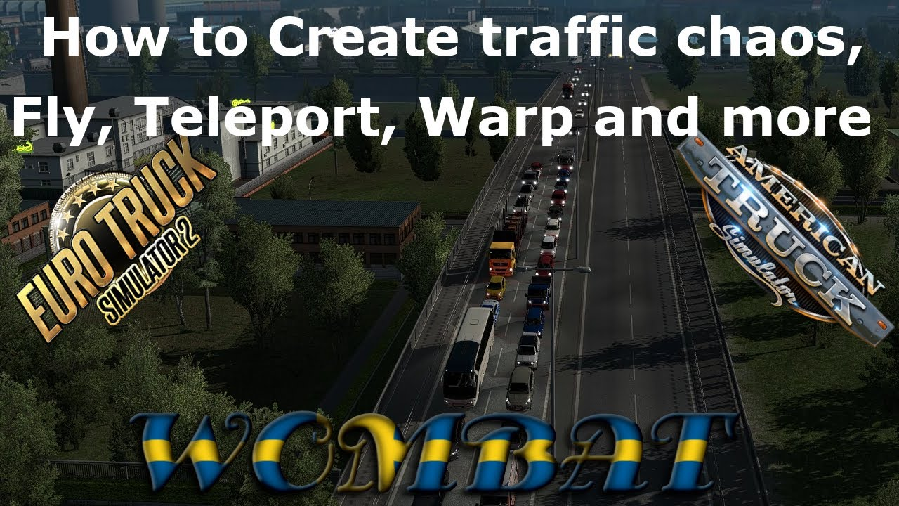 Enable the console to teleport, fly, change time and more in Euro and American truck simulator