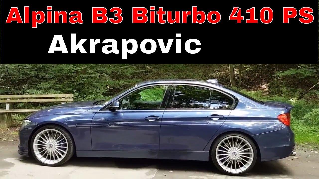 Probefahrt Alpina B3 Biturbo F30 Limousine Akrapovic 410