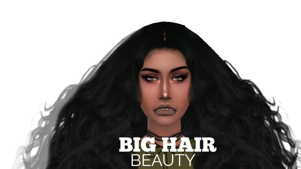 Big Hair Beauty Sims 4 Cas Unicorn Simz Youtube