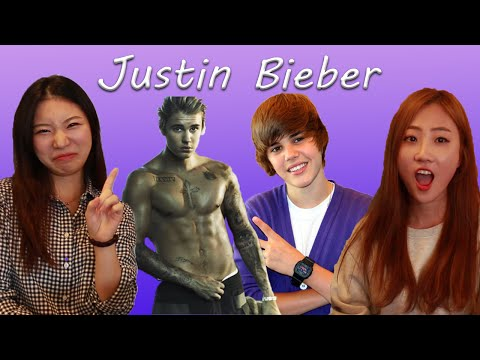 KOREAN GIRLS REACT TO JUSTIN BIEBER - WHAT DO YOU MEAN AND BABY