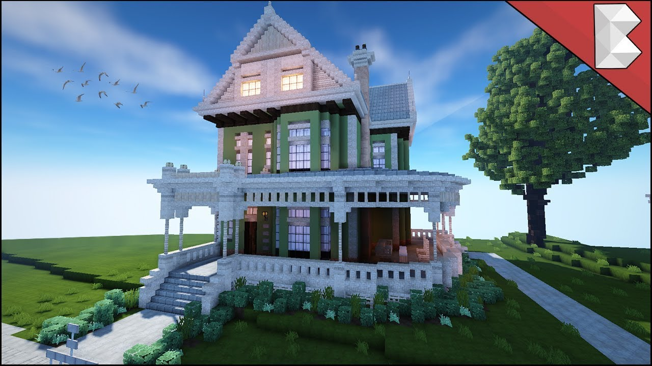 minecraft: traditional american suburban house - build review 2017