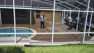 Pool Deck Painting in Winter Garden