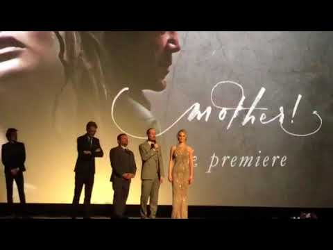 The cast of mother. Uk premiere. Jenifer Lawrence