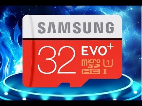 Топ Micro SD 32 гб Samsung Evo +10 класс с Алиэкспресс, рапаковка, обзор и тест