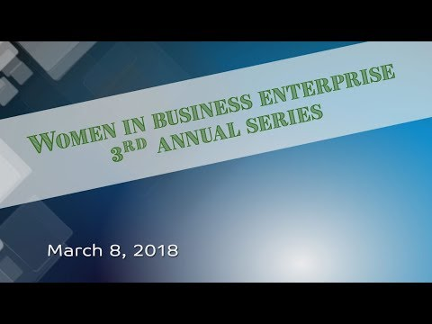 Women in Business Enterprise - 3/8/18