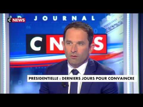 Benoît Hamon était l'invité du Grand journal de la présidentielle, sur CNews le 19/04/2017.