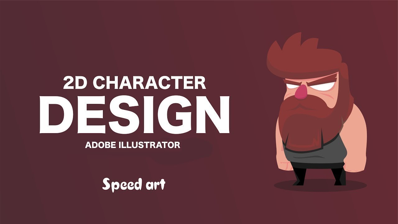simple 2d character design speed art | adobe illustrator cc - youtube