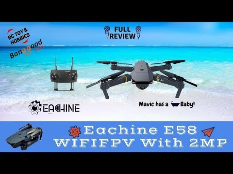 Eachine E58, REVIEW & FLIGHT TEST of this baby Mavic pocket drone !