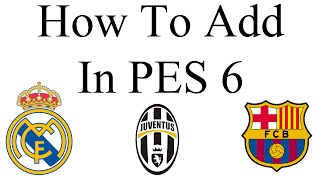 How To Add Logo In PES 6