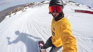 EPIC SELFIE SNOWBOARDING!