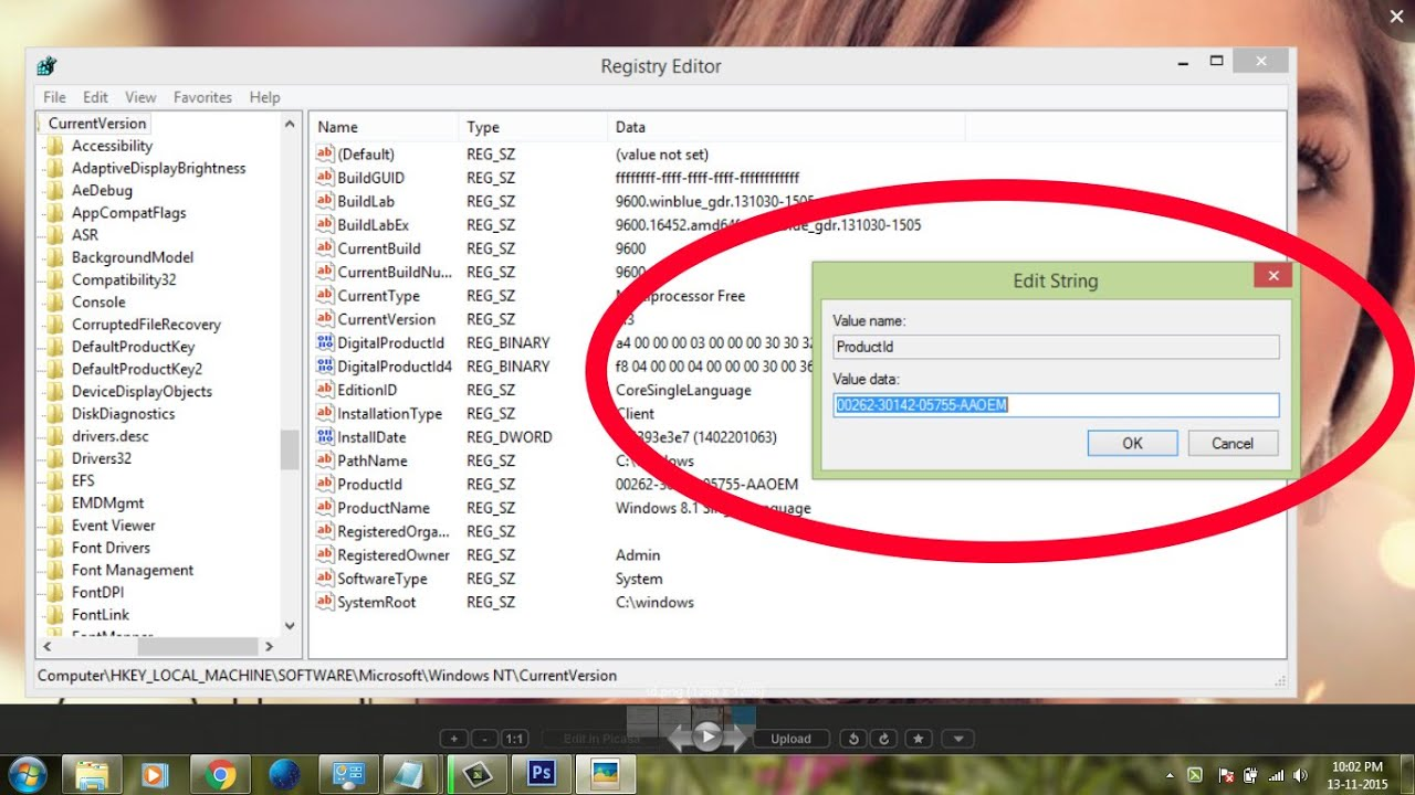 how to find product key in windows 7