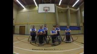 Hampshire Harriers Wheelchair Basketball Training