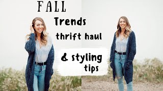 FALL TRENDS THRIFT HAUL + how to STYLE them
