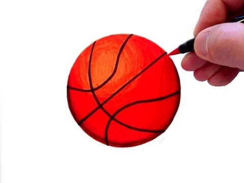 How to Draw a Realistic Basketball - YouTube