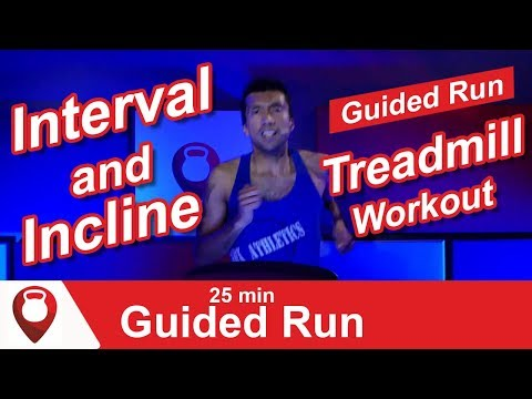 Interval and Incline Treadmill Workout   25 Min Guided Run   Fitscope Studio