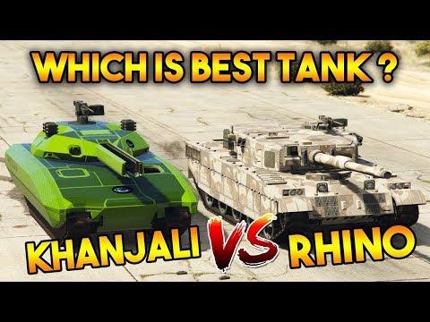 GTA ONLINE KHANJALI VS RHINO TANK ( WHICH IS THE BEST TANK ? )