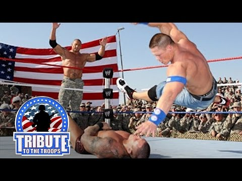 Thumbnail: John Cena, Batista & Rey Mysterio vs. Randy Orton & Jeri-Show: Tribute to the Troops, Dec. 20, 2008