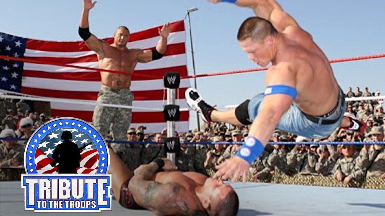 John Cena, Batista & Rey Mysterio vs. Randy Orton & Jeri ...