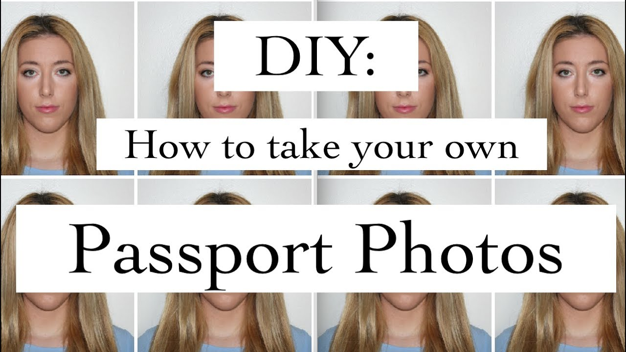 DIY Passport Photos - How to take and Edit your own Passport Photos at home