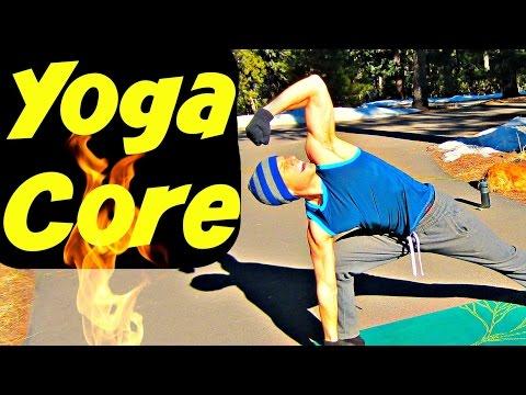 SERIOUS YOGA CORE STRENGTH WORKOUT - Hot Yoga Ab Butt Kicker #yogacore