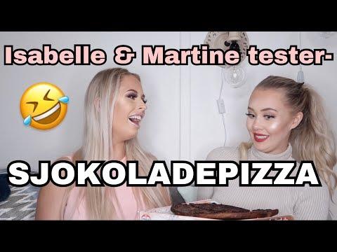 Isabelle & Martine tester - Sjokolade pizza + Storytime