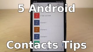 5 Tips for Android Contacts